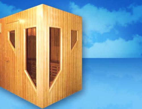 Sauna con ventanas especiales